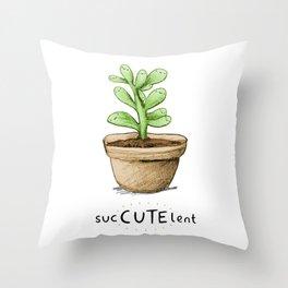 SucCUTElent Throw Pillow