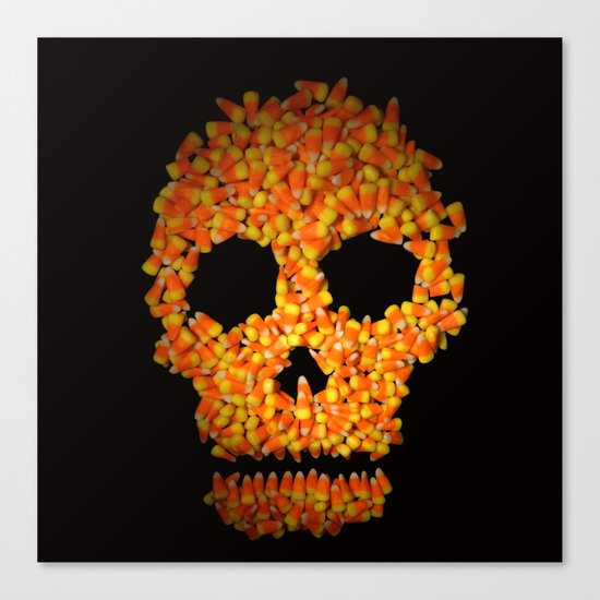 Candy Corn Skull Canvas Print