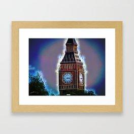 Iluminated Big Ben Framed Art Print