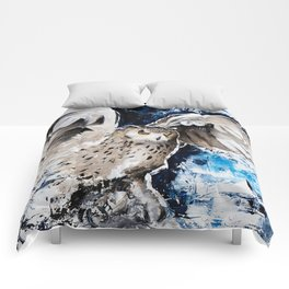 """Owl - Animal - """"I own the night..."""" by LiliFlore Comforters"""