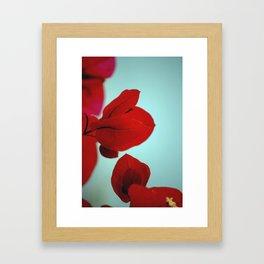 Flower flash Framed Art Print