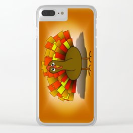 Worried Turkey Illustration Clear iPhone Case