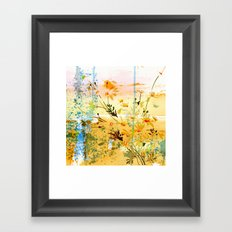 flowers at the beach Framed Art Print