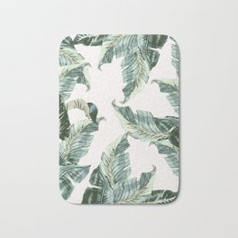 Tropical Banana Leaves Bath Mat