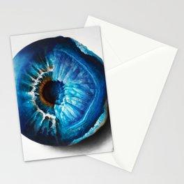 """Crystal Geode Eye"" Drawing Stationery Cards"
