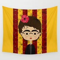 potter Wall Tapestries featuring Frida Potter by Camila Oliveira