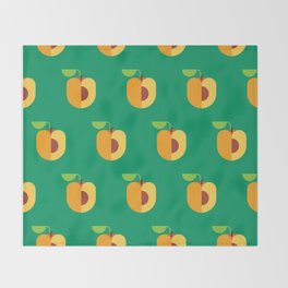 Fruit: Apricot Throw Blanket