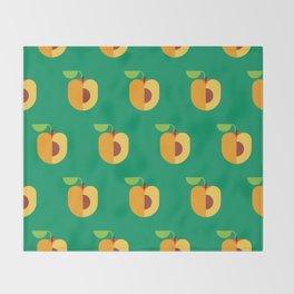 Fruit: Apricot Throw Blanket