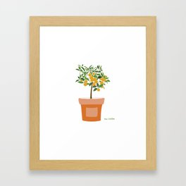 Orange tree in terracotta pot Framed Art Print
