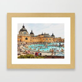 A Day at the Thermal Baths Framed Art Print