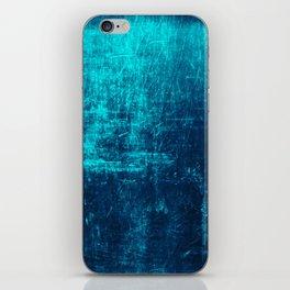 Denim & Turq Distressed Concrete Texture iPhone Skin