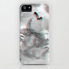 Maybe the Wolf Is In Love with the Moon v.2 (3D Effect) iPhone SE Slim Case