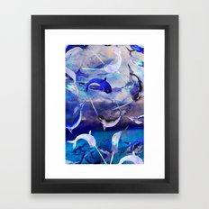 Ocean narwhal  Framed Art Print