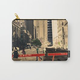 Downtown Chicago photography digitally reimagined - modern Chicago skyline in pop art Carry-All Pouch