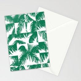 Palm Leaf Pattern Green Stationery Cards