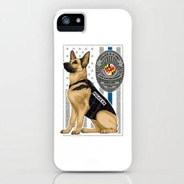 K9 Unit Flag MARYLAND copy iPhone Case