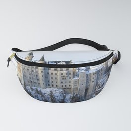 The Castle of Mad King Ludwig, Neuschwanstein Castle, Bavaria, Germany, Winter color photography / photographs  Fanny Pack