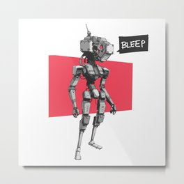Bleep Metal Print