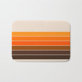 Golden Spring Stripes Bath Mat