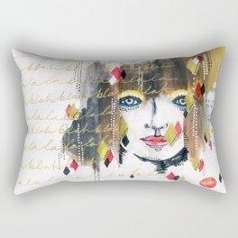 The La the Blah Rectangular Pillow