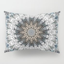 Gray, blue Mandala Pillow Sham
