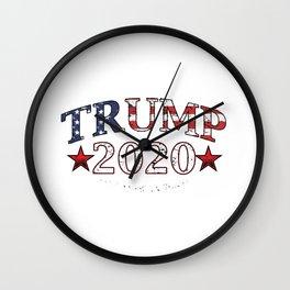 President Political USA Flag Nationalism Trump 2020 Make America Great Again Patriot Gift Wall Clock