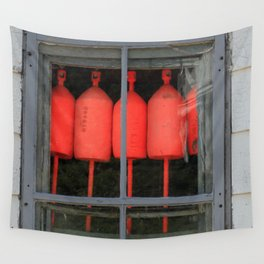 Buoys in the Window Wall Tapestry