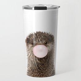 Bubble Gum Baby Otter Travel Mug