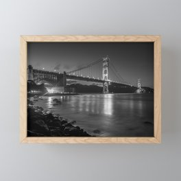 Night Walks at Fort Point, San Francisco Framed Mini Art Print