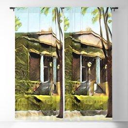 Providence Athenæum Library Benefit Street Landscape Painting by Jeanpaul Ferro Blackout Curtain