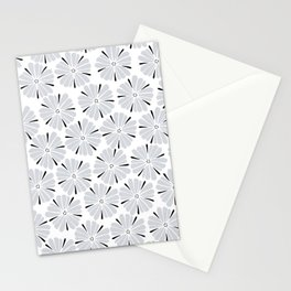 easy living cool grey flowers Stationery Cards