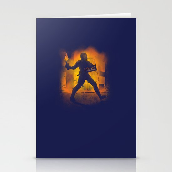 Riot Cop Stationery Cards