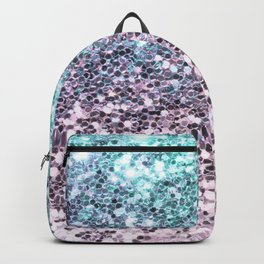 Pastel Blue Pink Glitters Sparkling Pretty Chic Pattern Backpack