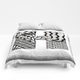 Zentangle H Monogram Alphabet Initials Comforters