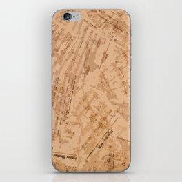 Partituras Collage Rock iPhone Skin