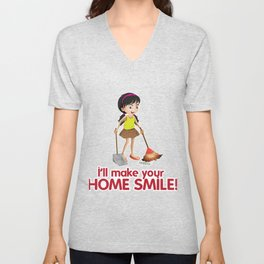 House Smile Clean Cleaning Crew Gift Unisex V-Neck