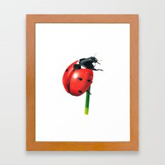 Ladybug | Colored pencil drawing Framed Art Print