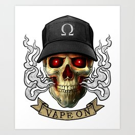 Vaping Skull - Vape On - Cloud Chaser - Vaper Art Print
