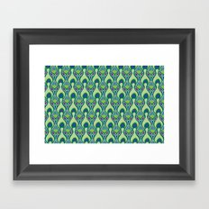 Peacock Feather Print Framed Art Print