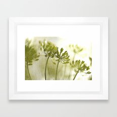 Something green and delicate Framed Art Print