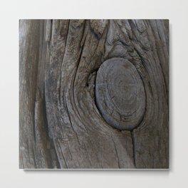 Weathered Wood Metal Print