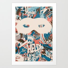 Save us. Art Print