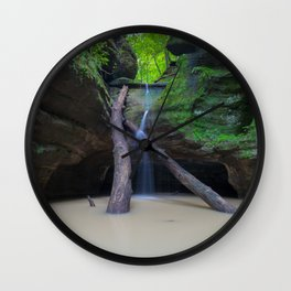 Time Passes and Waterfalls Wall Clock