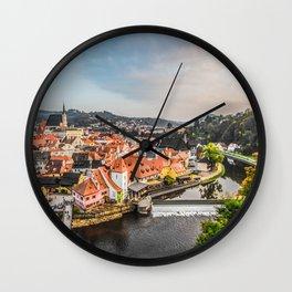 Cesky Krumlov Panoramic view Wall Clock