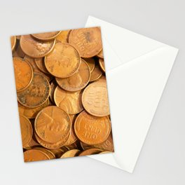 Watercolor Coins, Lincoln Wheat Pennies, 1952 01 Stationery Cards