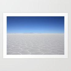 Salt Flats Art Print