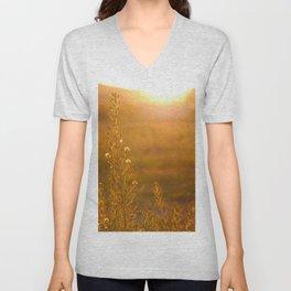 Orange Sunrise Unisex V-Neck
