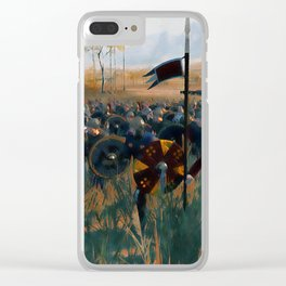 Medieval Army in Battle Clear iPhone Case