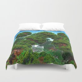 Bacterium Hedgerow Duvet Cover
