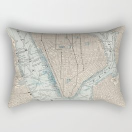 Vintage Map of New York City (1893) Rectangular Pillow